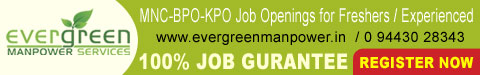 EverGreen Manpower Services, Job Openings, Kumbakonam Jobs, Kumbakonam Software Jobs, Kumbakonam Software Company, Kumbakonam Freshers Jobs, Chennai IT Company Jobs, Chennai BPO Jobs, Kumbakonam Data Entry Jobs